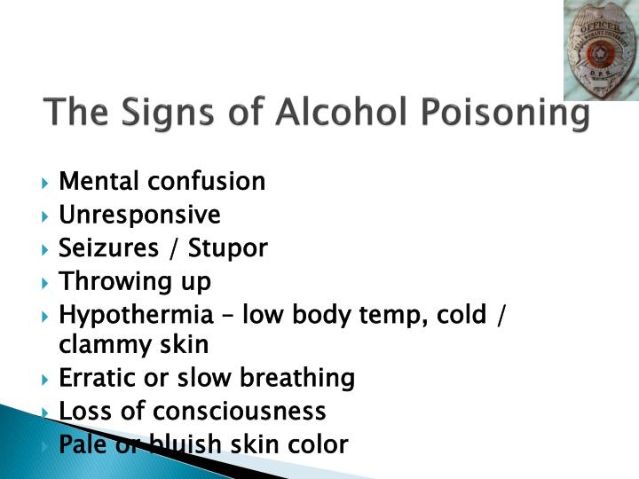 The Signs of Alcohol Poisoning