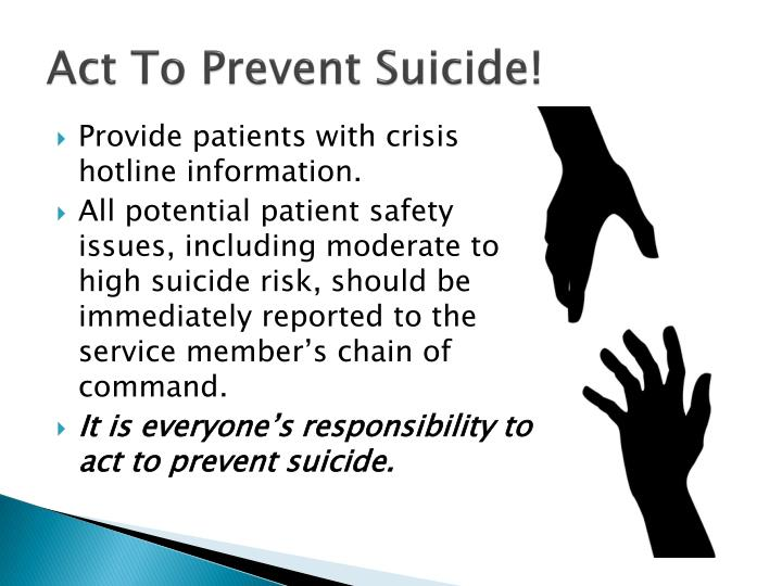 Act To Prevent Suicide!