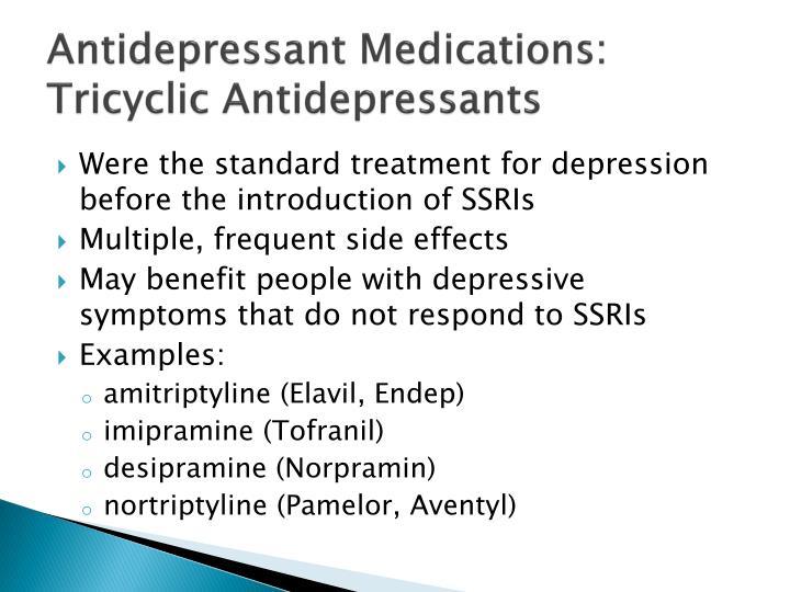 Antidepressant Medications:
