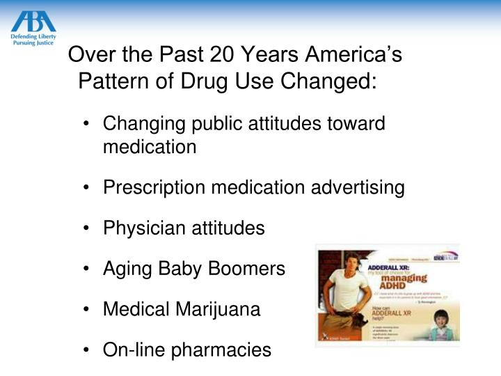 Over the Past 20 Years America's Pattern of Drug Use Changed: