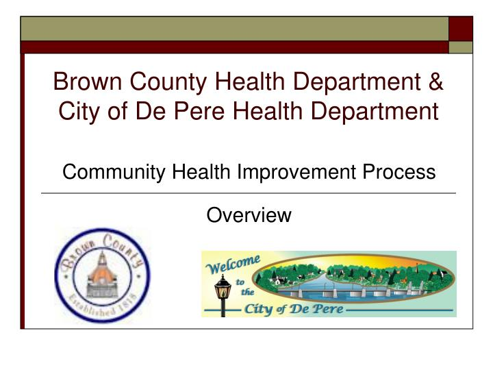 brown county health department city of de pere health department n.