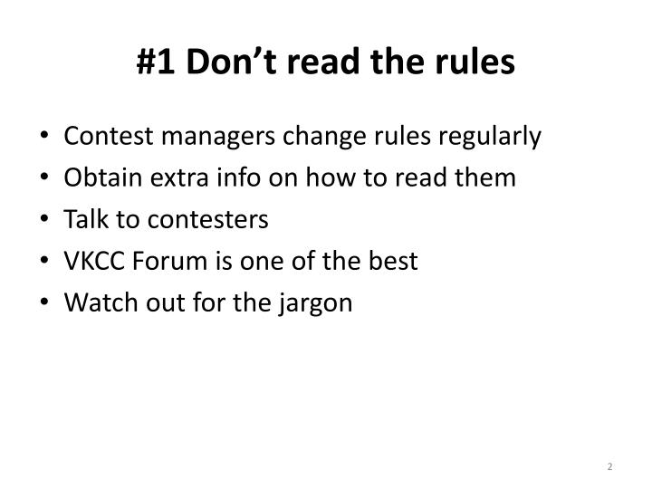 1 don t read the rules