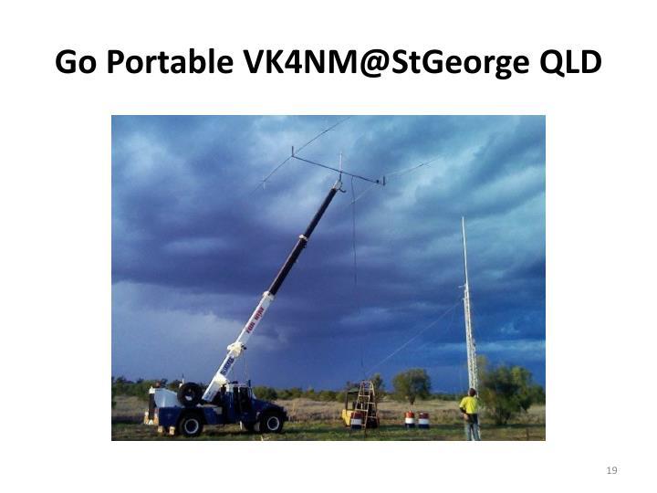 Go Portable VK4NM@StGeorge QLD