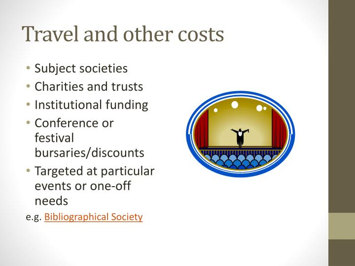 Travel and other costs