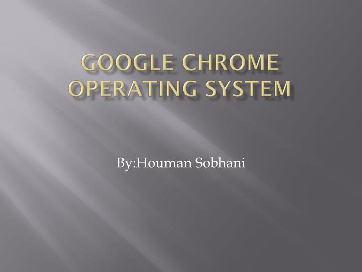 google chrome operating system n.