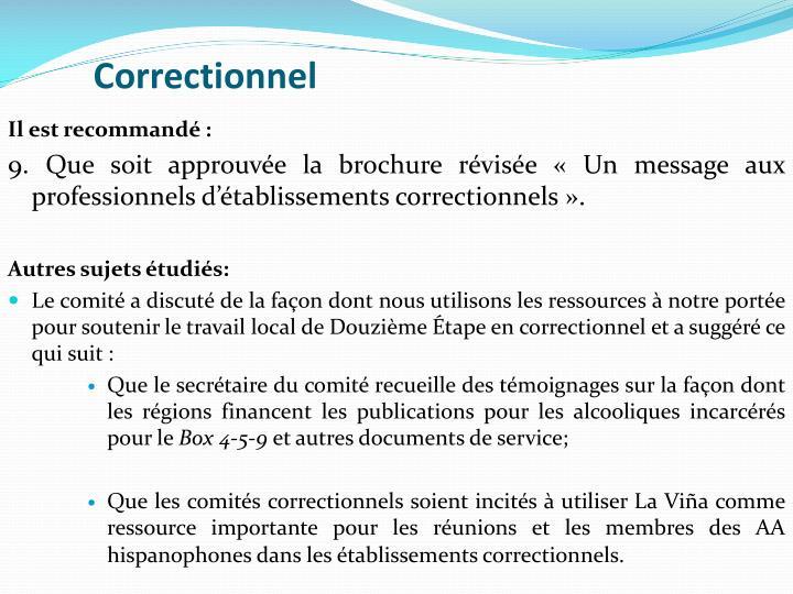 Correctionnel