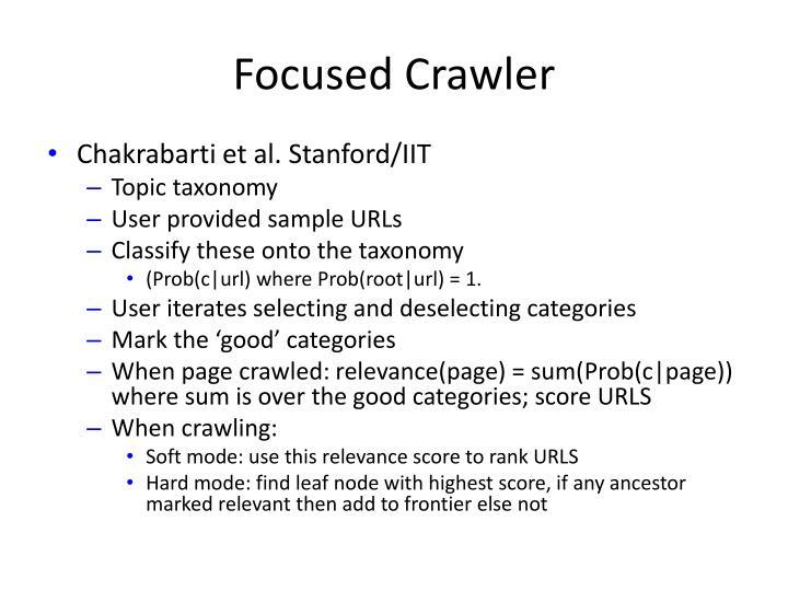 Focused Crawler