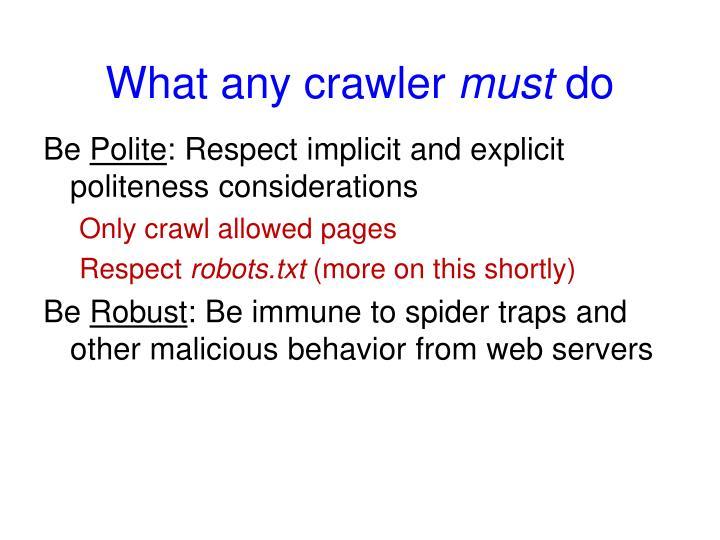 What any crawler