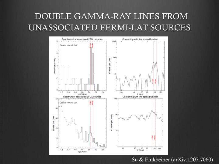 DOUBLE GAMMA-RAY LINES FROM UNASSOCIATED FERMI-LAT SOURCES