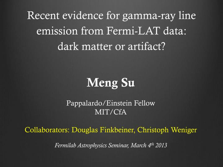 Recent evidence for gamma-ray line emission from Fermi-LAT