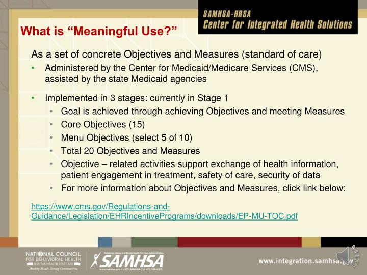 "What is ""Meaningful Use?"""