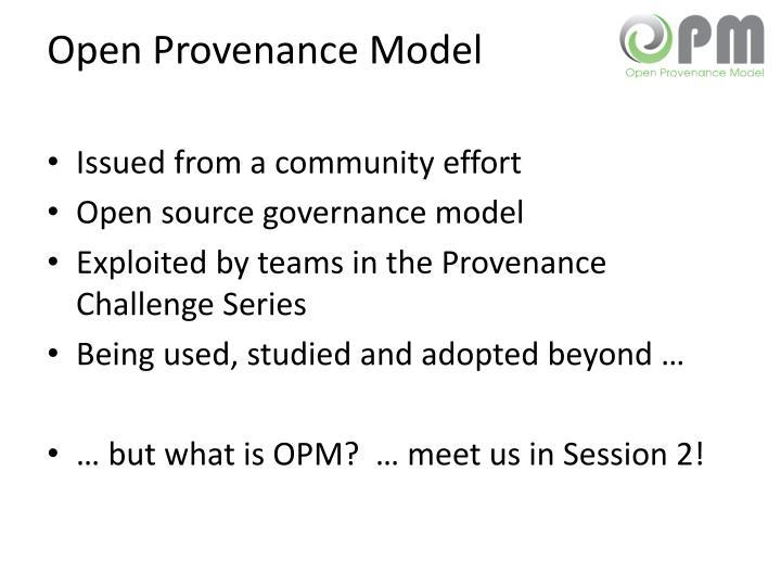 Open Provenance Model