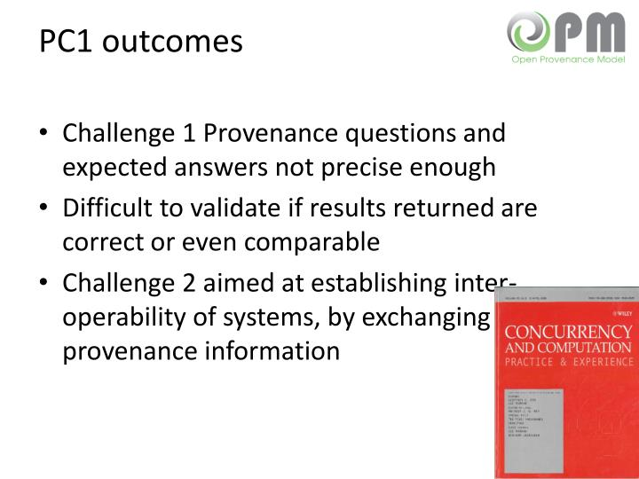 PC1 outcomes