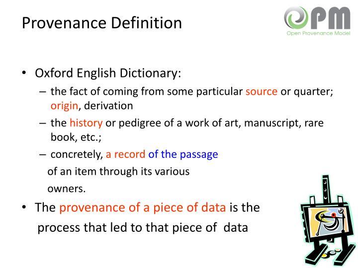 Provenance Definition