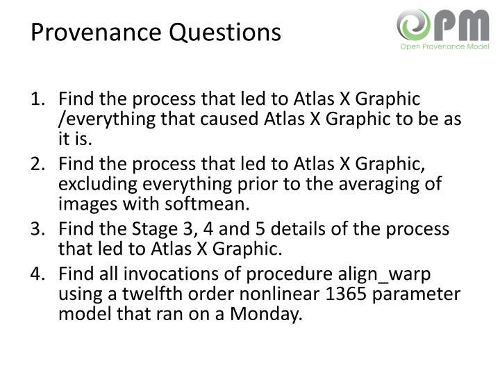 Provenance Questions