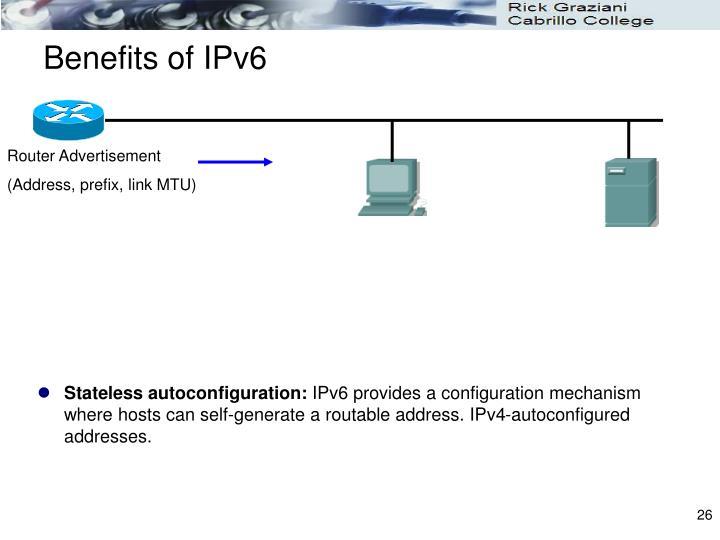Benefits of IPv6