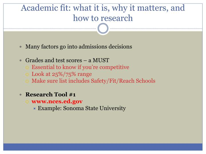 Academic fit: what it is, why it matters, and how to research