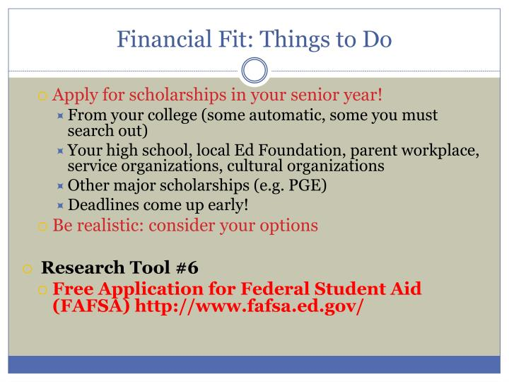 Financial Fit: Things to Do