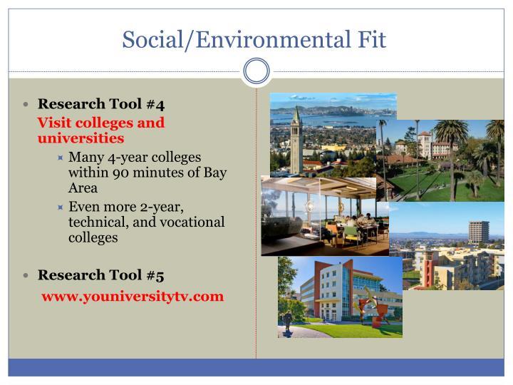 Social/Environmental Fit