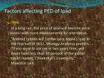factors affecting ped of ipad