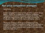 non price competition strategies