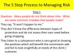 the 5 step process to managing risk