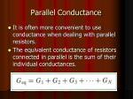 parallel conductance