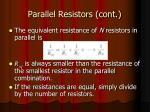 parallel resistors cont