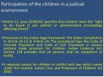 participation of the children in a judicial environment