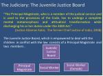 the judiciary the juvenile justice board