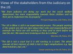 views of the stakeholders from the judiciary on the jjs
