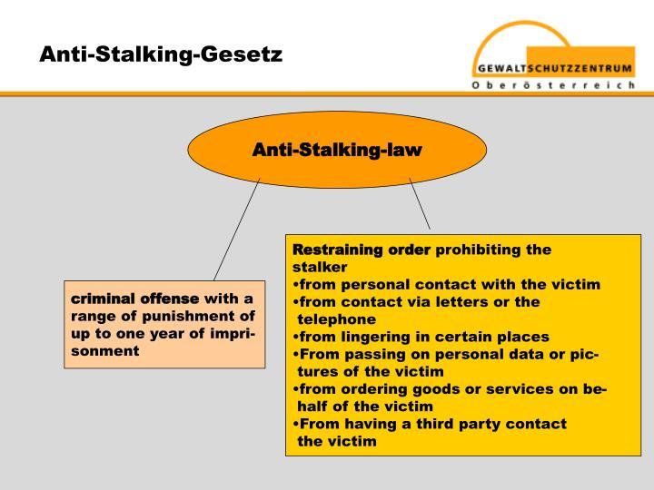 Anti-Stalking-Gesetz