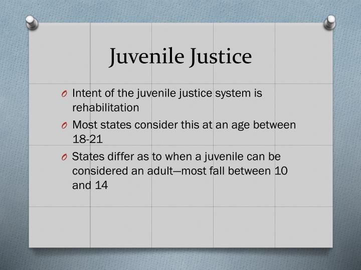 rehabilitation in juvenile justice The primary goals of the juvenile justice system, in addition to maintaining public safety, are skill development, habilitation, rehabilitation, addressing treatment needs, and successful reintegration of youth into the community.