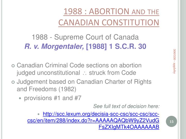 abortion and the criminal code in