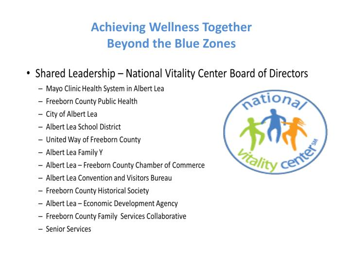 Achieving Wellness Together