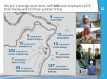 we are a strongly local team with 650 area employees 225 from veolia and 425 from partner firms