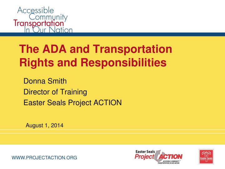 the ada and transportation rights and responsibilities n.