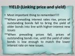 yield linking price and yield