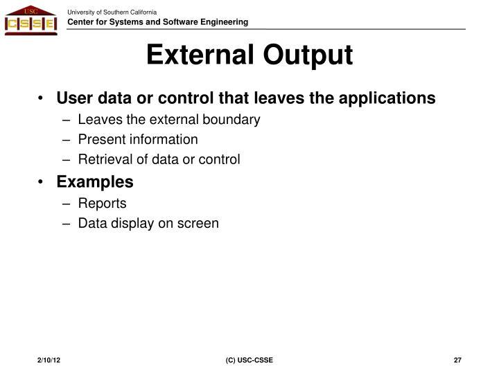 External Output