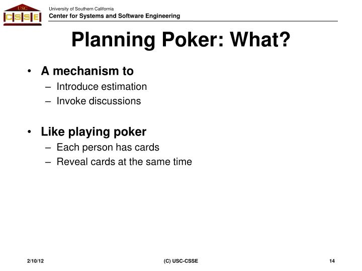 Planning Poker: What?