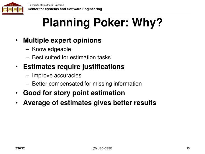 Planning Poker: Why?