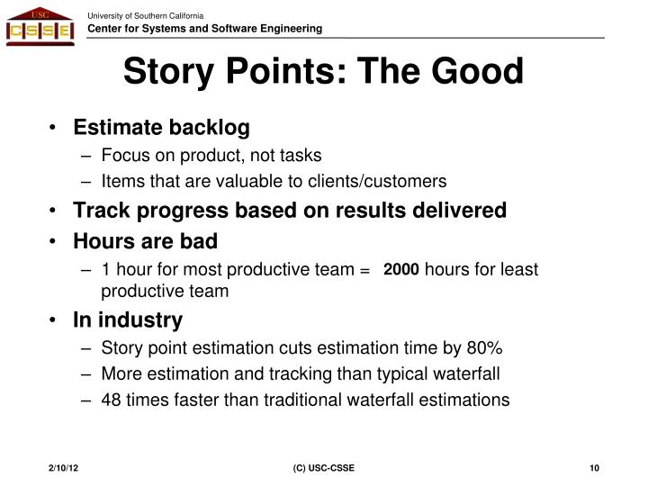 Story Points: The Good