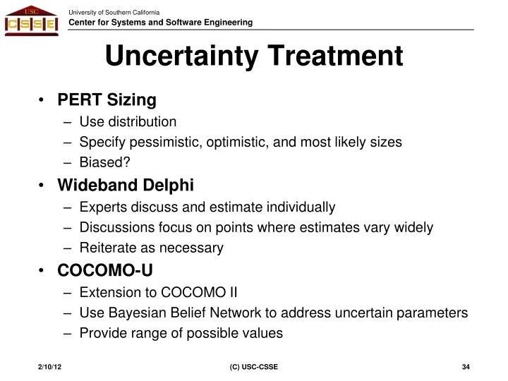 Uncertainty Treatment