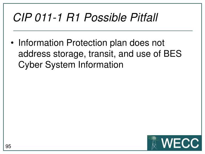 CIP 011-1 R1 Possible Pitfall