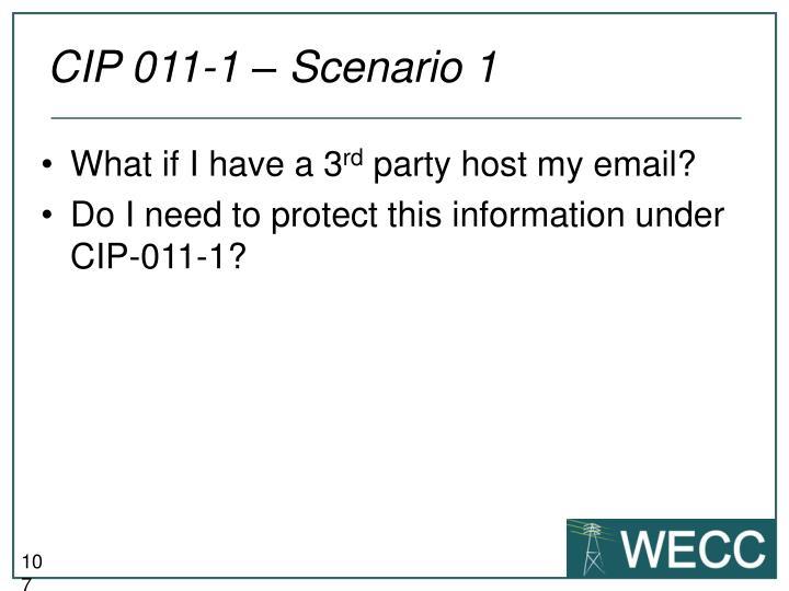 CIP 011-1 – Scenario 1