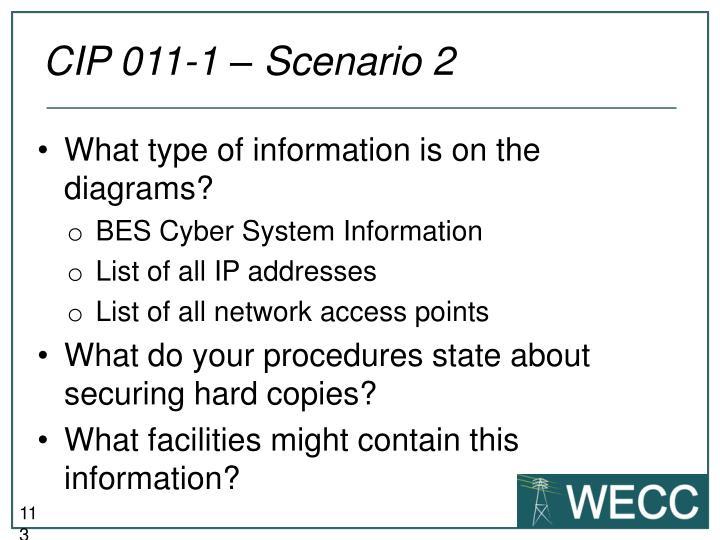 CIP 011-1 – Scenario 2
