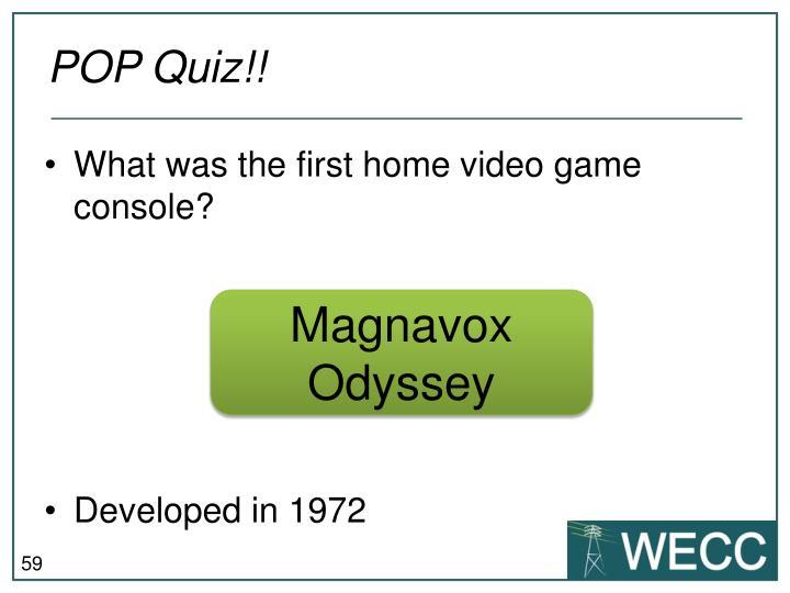 POP Quiz!!