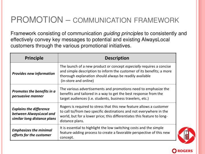 PROMOTION – communication framework