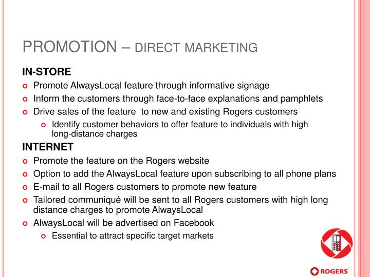 PROMOTION – direct marketing