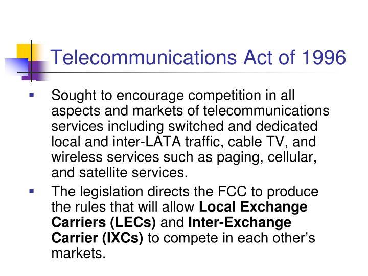 Telecommunications Act of 1996